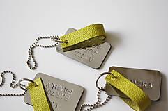 Kľúčenky - Kožený prívesok s vlastným textom-MIRROR - 12177607_