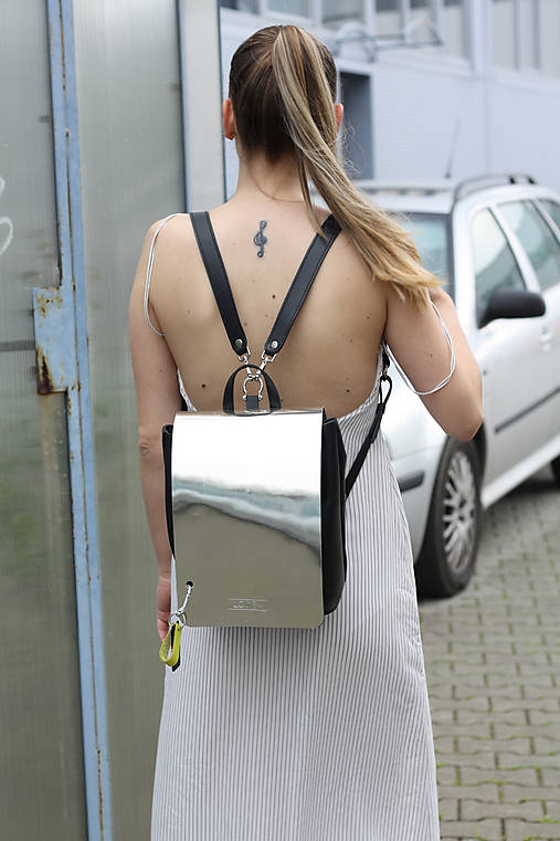 Batohy - Kožený ruksak- MIRROR - 12177472_