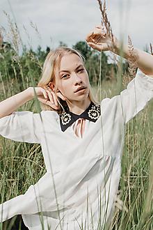 Náhrdelníky - Dámsky golier čierno-zlatý - 12177619_