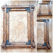 Zrkadlá - Dreveny rustikalny ram na zrkadlo starec - 12176740_