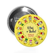Drobnosti - ODZNAK Vitaj v škole! (žltý / modrý) - 12175943_
