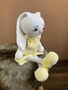 Hračky - zajačik FUFU - v bledožltom - 12176663_