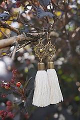 Strapcové náušnice - Ivory