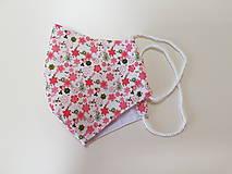 Rúška - Dizajnové bavlnené - drobné kvietky - 12178050_