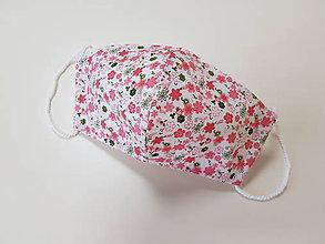 Rúška - Dizajnové bavlnené - drobné kvietky - 12178048_