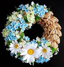 Dekorácie - jednoducho biela a modra - 12178854_