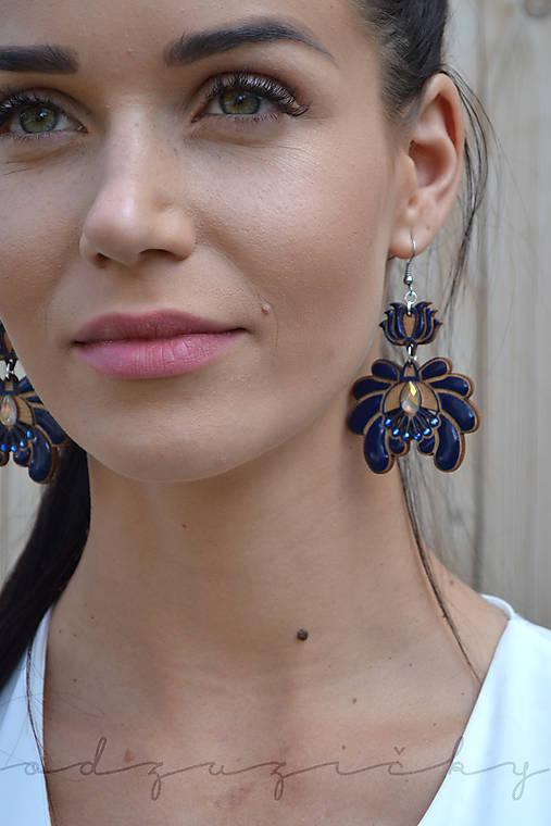 Náušničky Marienka  (Modrá)