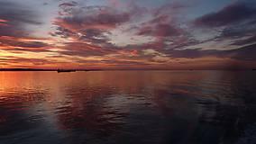 Fotografie - Scenéria - Západ slnka nad morom, fotografia, nástenná dekorácia do domu - 12176791_