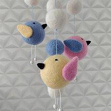 Detské doplnky - Kolotoč s vtáčikmi do detskej izby - 12178221_