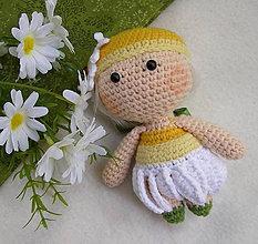 Hračky - mini bábika margarétka - 12179917_