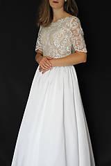 Šaty - Svadobné šaty s priesvitným chrbátom a veľkou sukňou - 12181046_