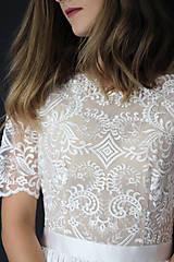 Šaty - Svadobné šaty s priesvitným chrbátom a veľkou sukňou - 12181048_
