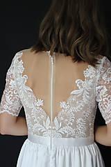 Šaty - Svadobné šaty s priesvitným chrbátom a veľkou sukňou - 12181049_
