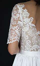 Šaty - Svadobné šaty s priesvitným chrbátom a veľkou sukňou - 12181050_
