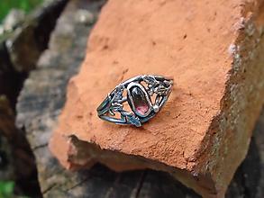 Prstene - Strieborny prsteň Ag925 Melónový turmalín - 12179377_