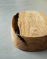 Nádoby - Drevená dubová misa s čiernym  epoxidom - 12179507_
