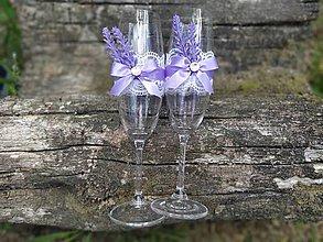 Nádoby - Svadobné poháre - Levander dream - 12180301_
