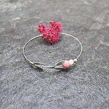 Náramky - Záhrada - náramky ružové (Tavolník) - 12179554_