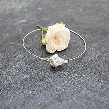 Náramky - Záhrada - náramky ružové (Ružička) - 12179565_