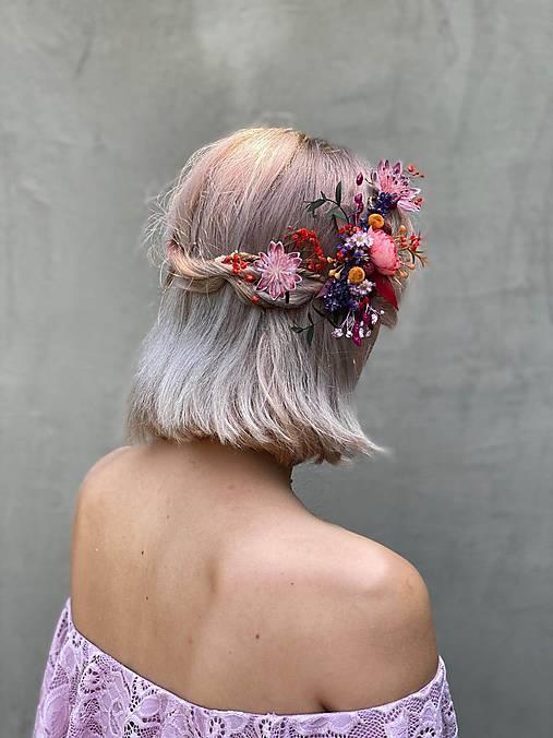 """Kvetinová aplikácia/hrebienok """"vanie jeseň po úbočí"""""""