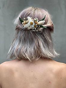 """Ozdoby do vlasov - Kvetinový hrebienok """"lúčenie leta"""" - 12181548_"""