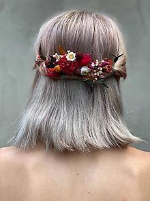 """Ozdoby do vlasov - Kvetinová aplikácia/hrebienok """"kúsok spomienok"""" - 12181608_"""