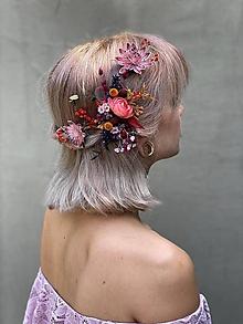 """Ozdoby do vlasov - Kvetinová aplikácia/hrebienok """"vanie jeseň po úbočí"""" - 12181663_"""