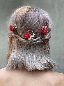 """Ozdoby do vlasov - Kvetinová vlásenka """"bozky horúce"""" - 12181703_"""