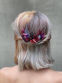 """Ozdoby do vlasov - Kvetinová vlásenka """"s večerom býva krásne"""" - 12181718_"""