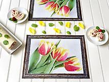 Autorské Foto Prostírání/Rám - Duše Tulipánů