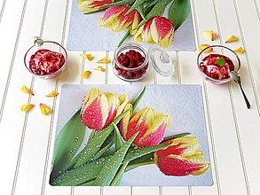 Úžitkový textil - Autorské Foto Prostírání - Duše Tulipánů - 12179604_