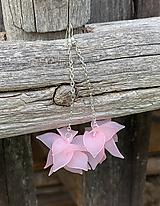 Náušnice - Ružové lupienkové náušnice - 12180779_