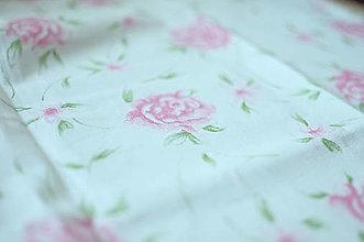 Rúška - *DIzajnové* 2 vrstvové ochranné rúško na tvár - aj v iných prevedeniach  (dizajnové rúško biela/kvety) - 12179931_