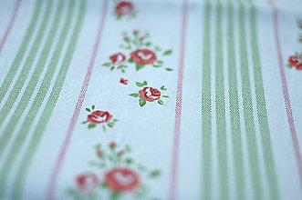 Rúška - *DIzajnové* 2 vrstvové ochranné rúško na tvár - aj v iných prevedeniach  (dizajnové rúško biela/prúžok + kvet) - 12179936_