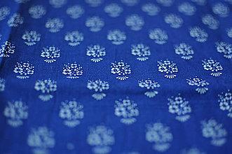 Rúška - *DIzajnové* 2 vrstvové ochranné rúško na tvár - aj v iných prevedeniach  (dizajnové rúško modrotlač/kytička) - 12179937_