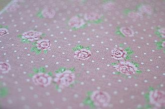Rúška - *DIzajnové* 2 vrstvové ochranné rúško na tvár - aj v iných prevedeniach  (dizajnové rúško saroružová/kvetinka) - 12179949_