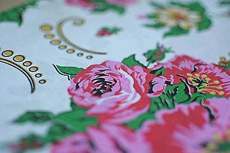Rúška - *DIzajnové* 2 vrstvové ochranné rúško na tvár - aj v iných prevedeniach  (dizajnové rúško biela/na ľudovú nôtu) - 12179954_