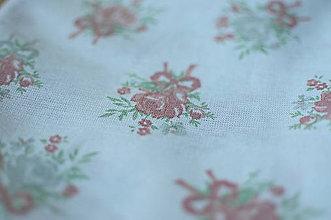 Rúška - *DIzajnové* 2 vrstvové ochranné rúško na tvár - aj v iných prevedeniach  (dizajnové rúško biela/pastelové kvetinky) - 12179959_