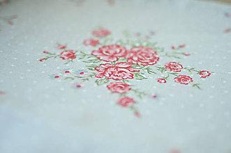 Rúška - *DIzajnové* 2 vrstvové ochranné rúško na tvár - aj v iných prevedeniach  (dizajnové rúško šedá/ružové kvetinky) - 12179966_