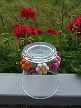 Detské doplnky - Náramok s kvetinkami - 12180700_