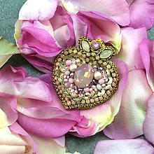 Brošne - Rose heart... brož - 12182932_