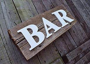 Tabuľky - 11cm nápis BAR - 12184047_