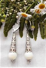 Náušnice - V štýle antiky (Biela perla) - 12184100_