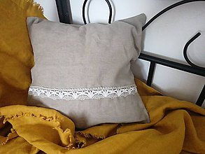 Úžitkový textil - Návliečka lanová na vankúš - 12184164_