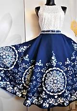 """Sukne - FLORAL FOLK """" Slovenská ornamentika """", spoločenská sukňa - 12182498_"""