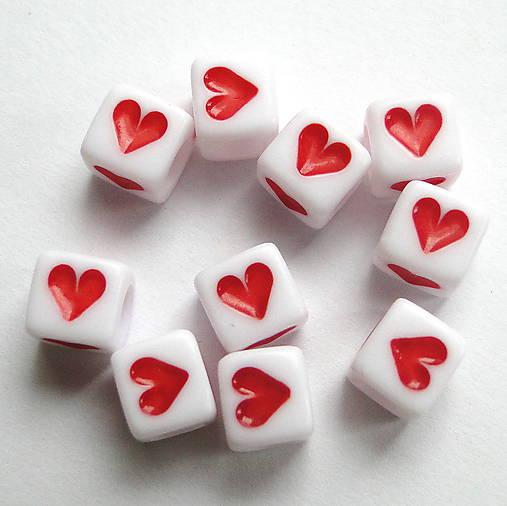 Plast srdce-kocka-1ks