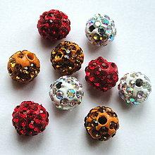 Korálky - Disco guľka Crystal 8mm-1ks - 12184046_