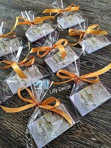 Darčeky pre svadobčanov - Darčekové balenie na svadobné darčeky pre hostí. - 12182486_