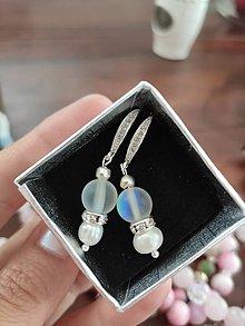 Náušnice - Náušnice s krištáľmi & riečnymi perlami - 12183145_