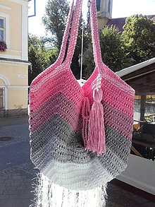 Kabelky - Summer Bag ...OMBRÉ ružová - 12183475_